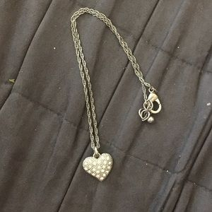 Heart necklace w/ mini crystals